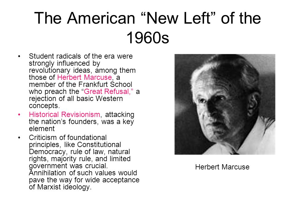 The American New Left of the 1960s