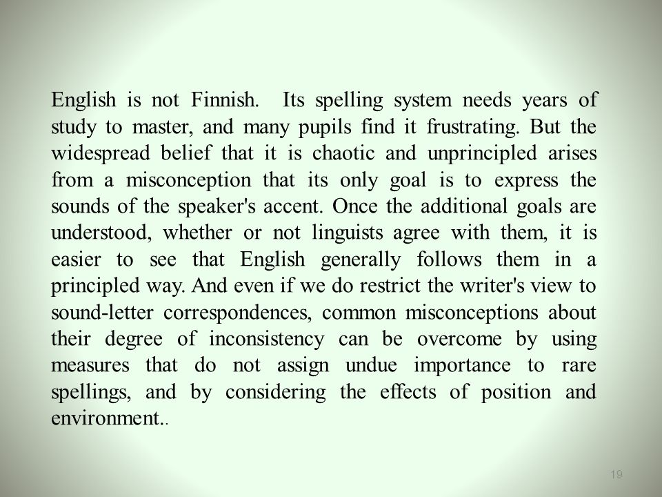 English is not Finnish.
