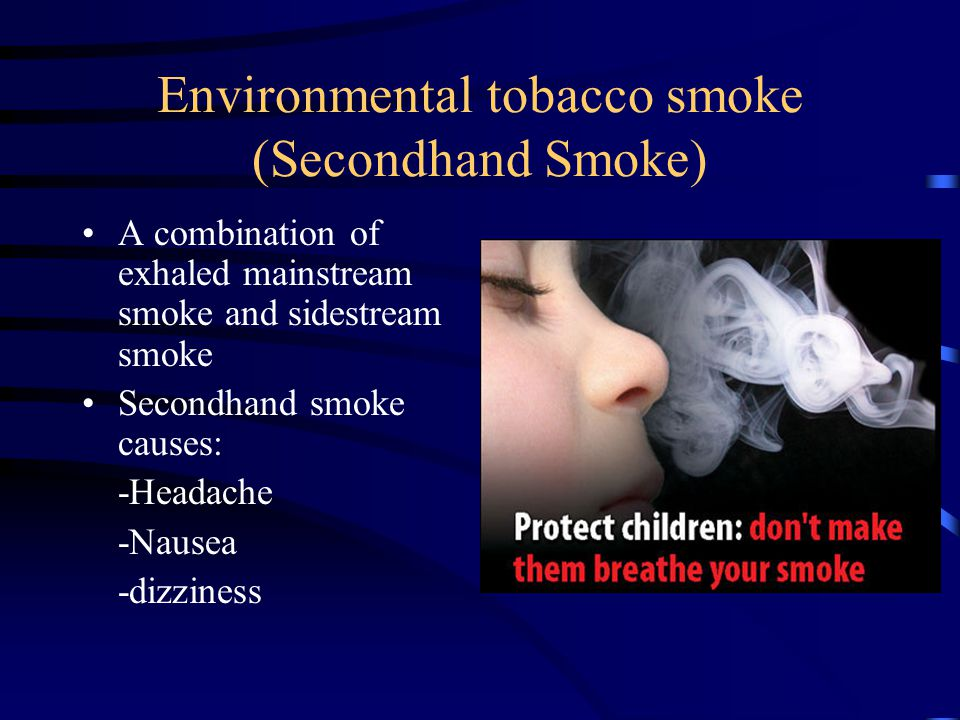Environmental tobacco smoke (Secondhand Smoke)
