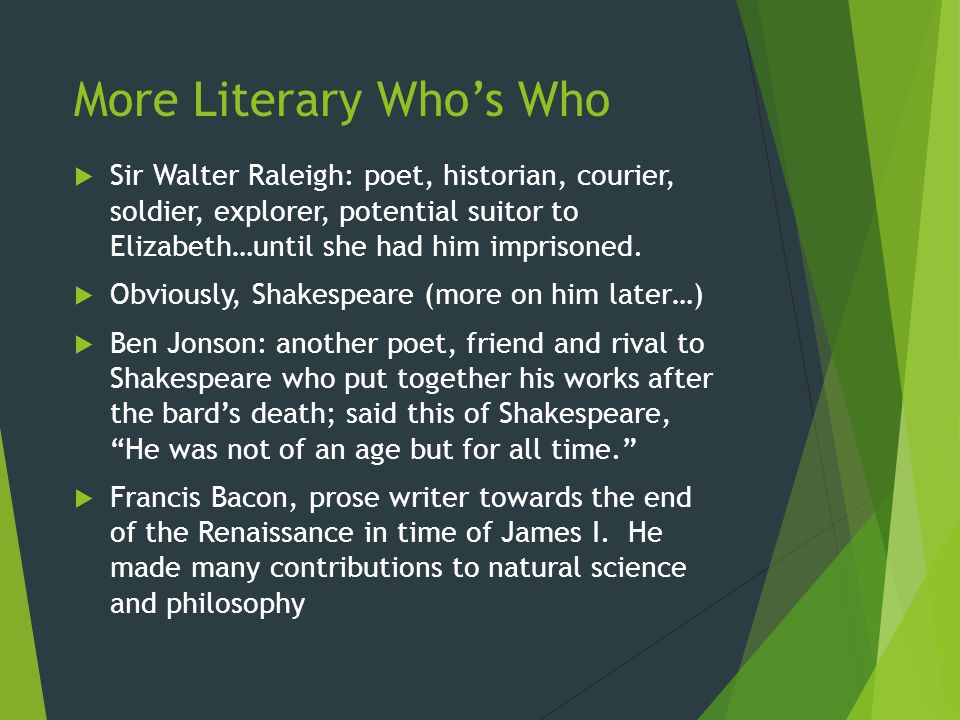 More Literary Who's Who