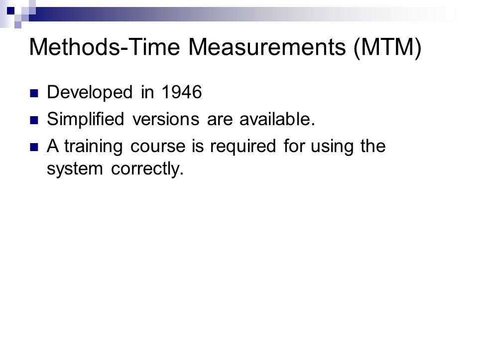 Methods-Time Measurements (MTM)