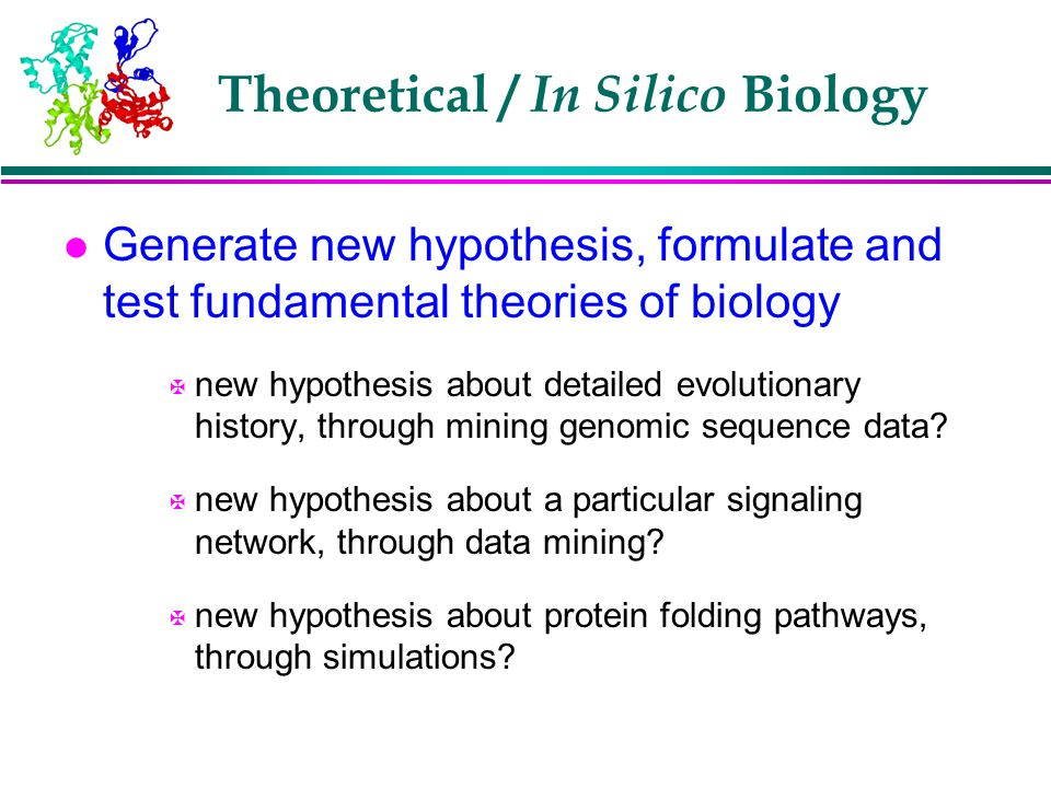 Theoretical / In Silico Biology