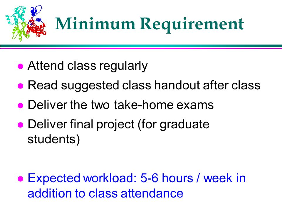 Minimum Requirement Attend class regularly