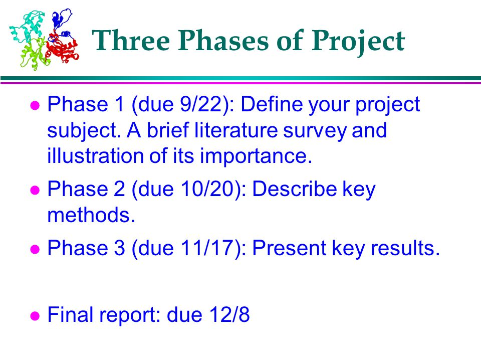 Three Phases of Project