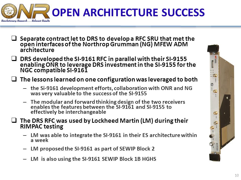 OPEN ARCHITECTURE SUCCESS