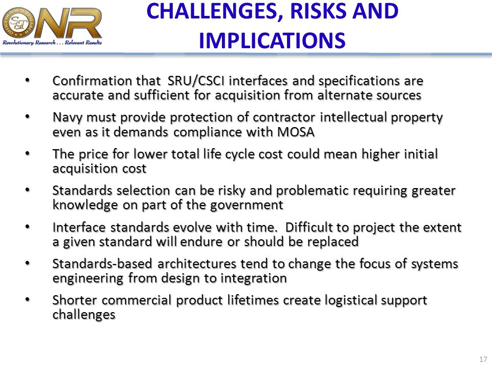 CHALLENGES, RISKS AND IMPLICATIONS