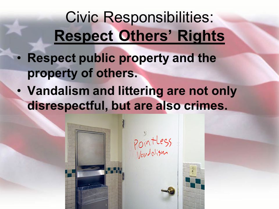 Civic Responsibilities: Respect Others' Rights