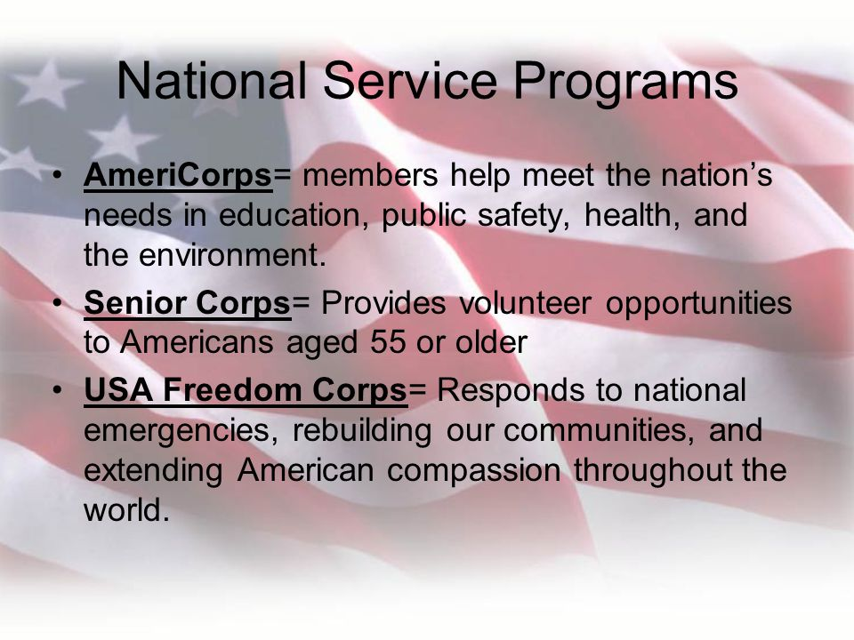 National Service Programs