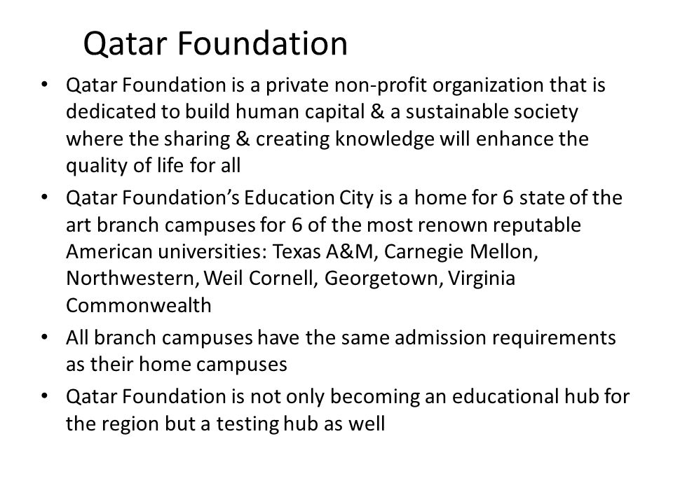 Qatar Foundation