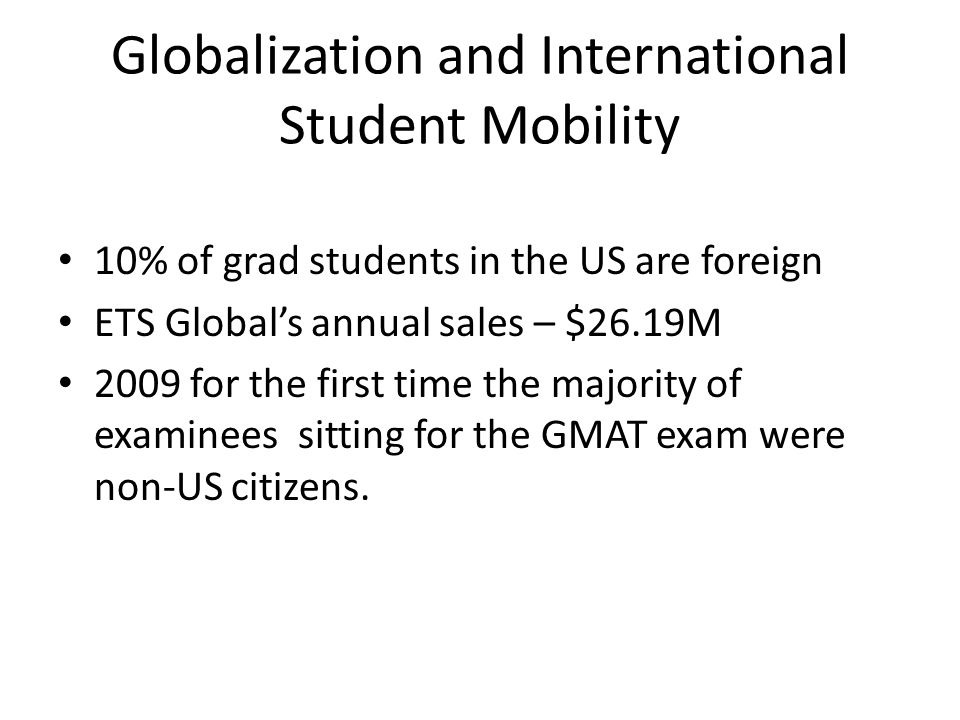 Globalization and International Student Mobility