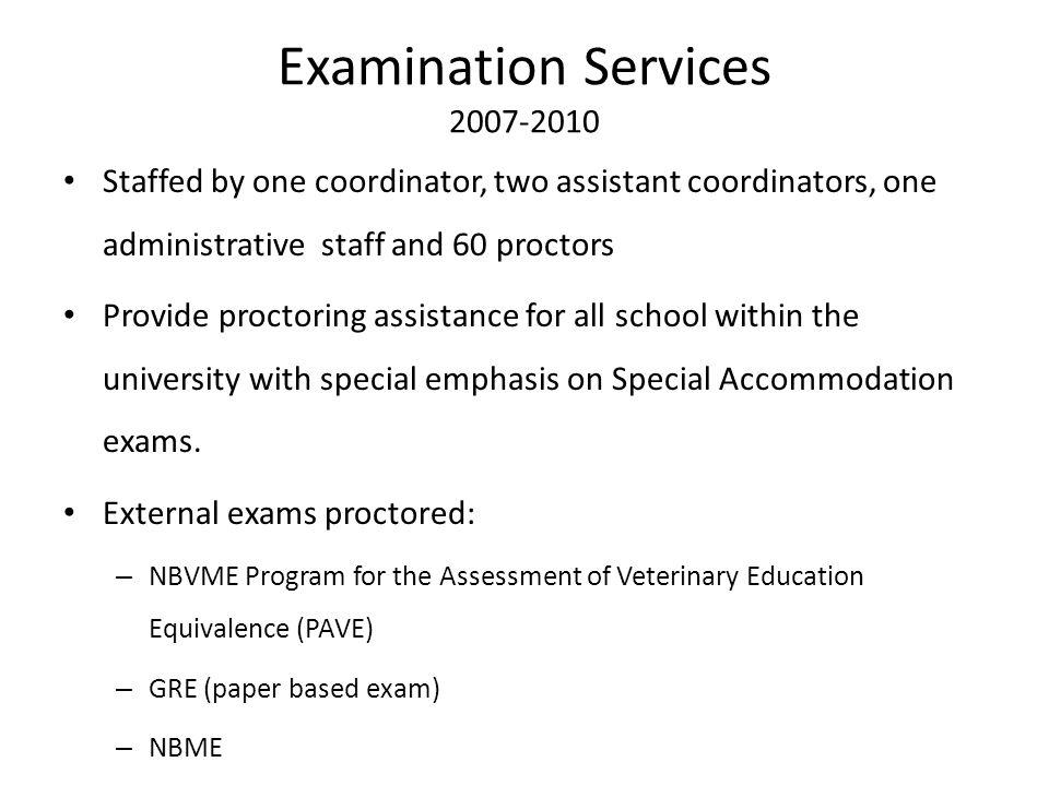 Examination Services 2007-2010