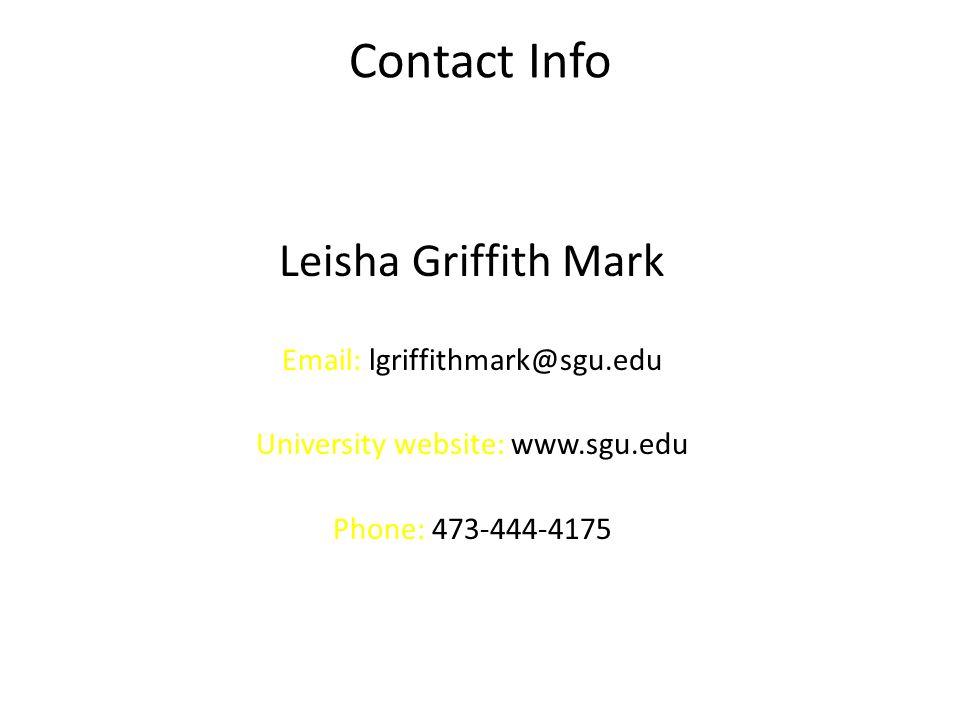 University website: www.sgu.edu