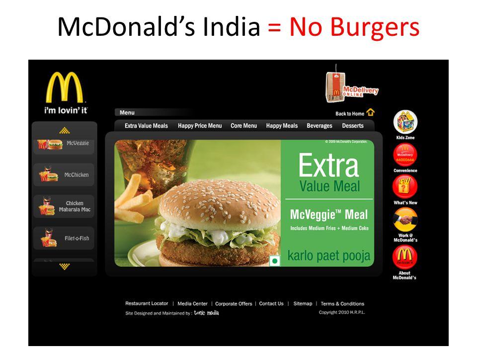 McDonald's India = No Burgers
