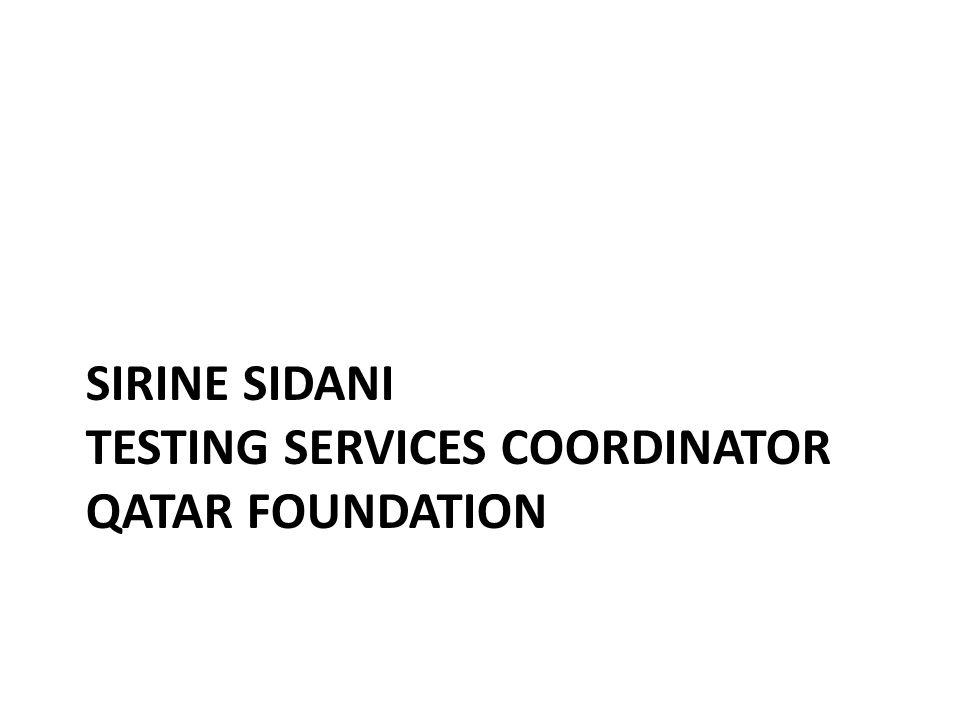 Sirine Sidani testing services coordinator Qatar foundation