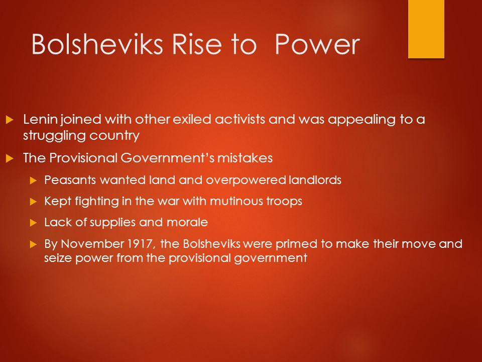 Bolsheviks Rise to Power