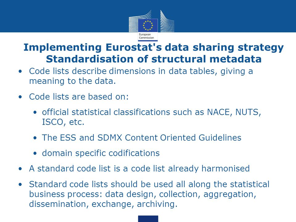 Implementing Eurostat s data sharing strategy