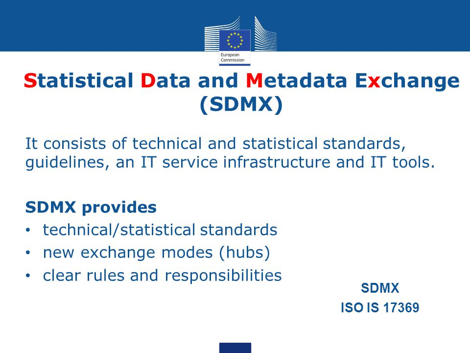Statistical Data and Metadata Exchange (SDMX)