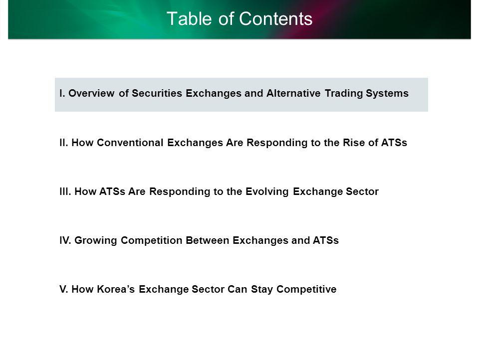 Overview of Securities Exchanges