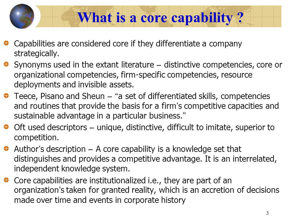 What is a core capability