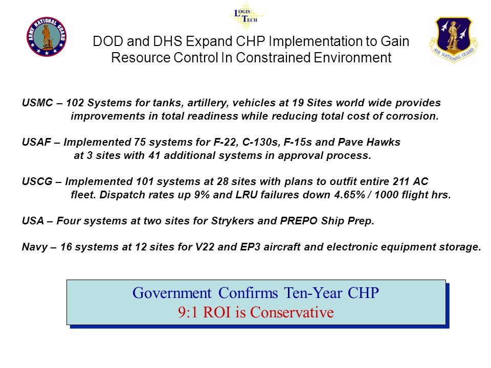 Government Confirms Ten-Year CHP 9:1 ROI is Conservative