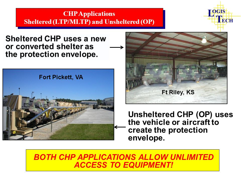 BOTH CHP APPLICATIONS ALLOW UNLIMITED ACCESS TO EQUIPMENT!