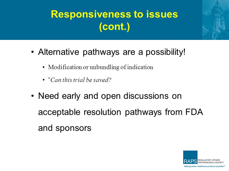 Responsiveness to issues (cont.)