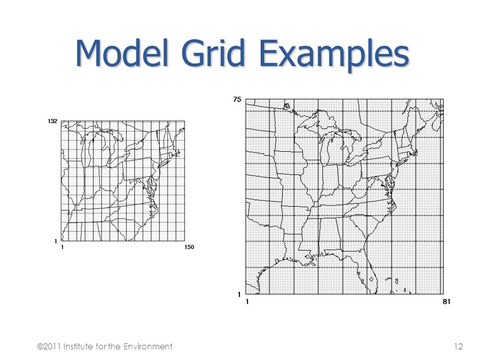 Model Grid Examples ©2011 Institute for the Environment