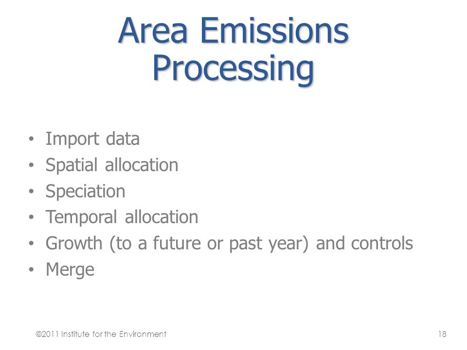 Area Emissions Processing