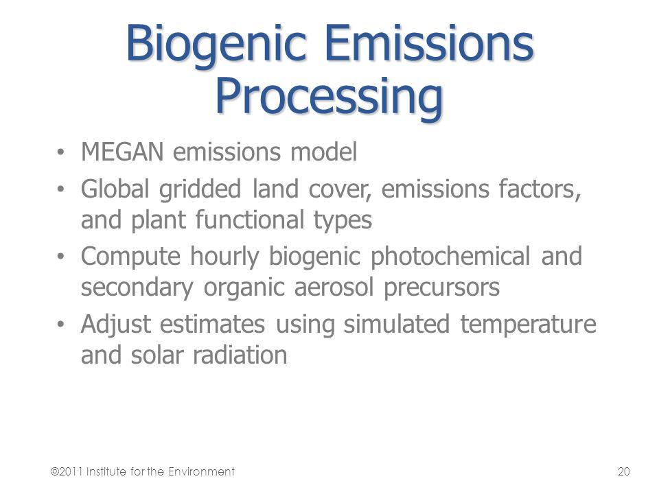 Biogenic Emissions Processing