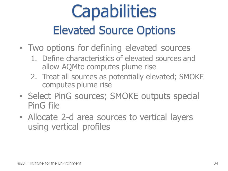 Capabilities Elevated Source Options