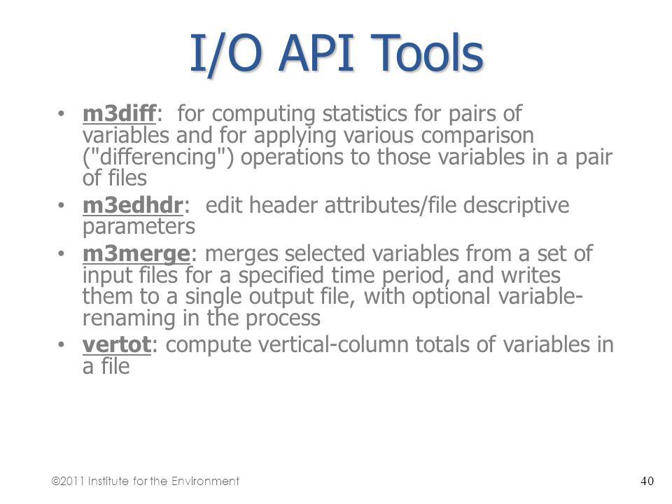 I/O API Tools