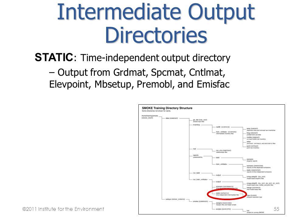 Intermediate Output Directories