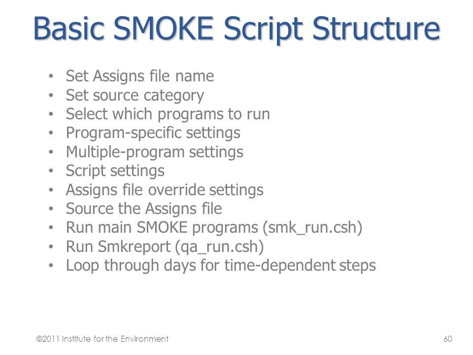 Basic SMOKE Script Structure