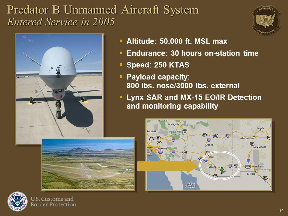 Predator B Unmanned Aircraft System Entered Service in 2005