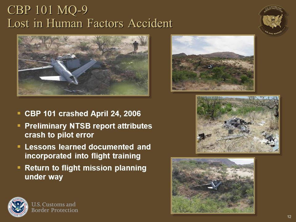CBP 101 MQ-9 Lost in Human Factors Accident