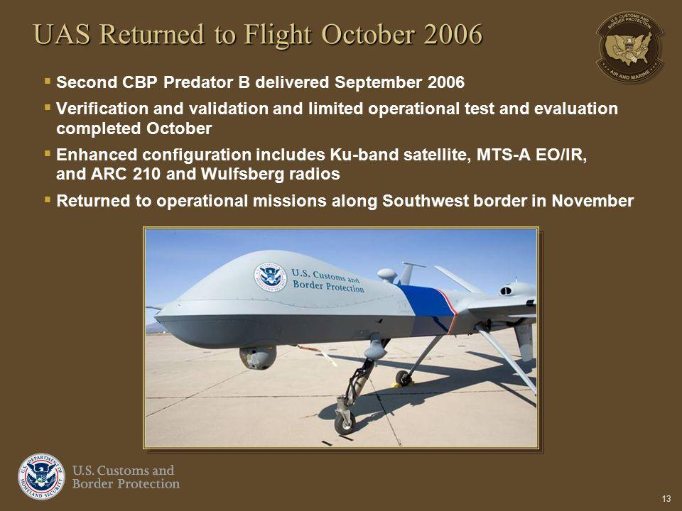 UAS Returned to Flight October 2006