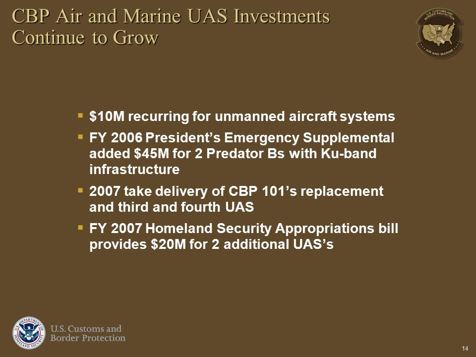 CBP Air and Marine UAS Investments Continue to Grow