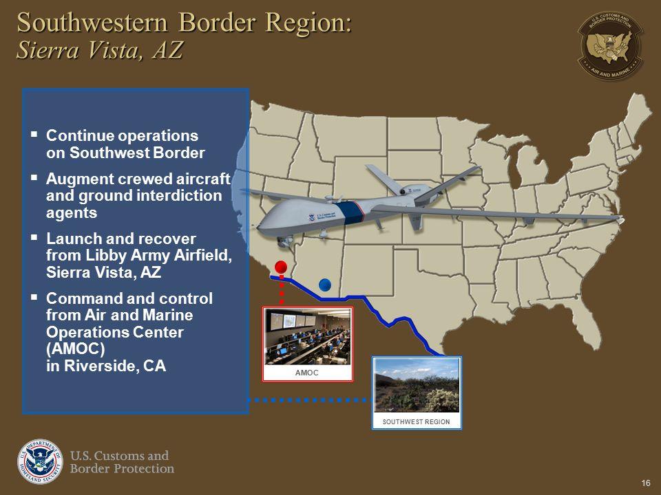 Southwestern Border Region: Sierra Vista, AZ