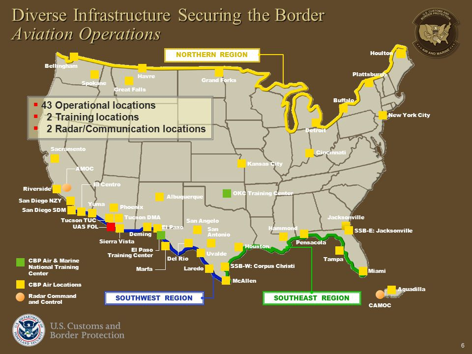 Diverse Infrastructure Securing the Border Aviation Operations