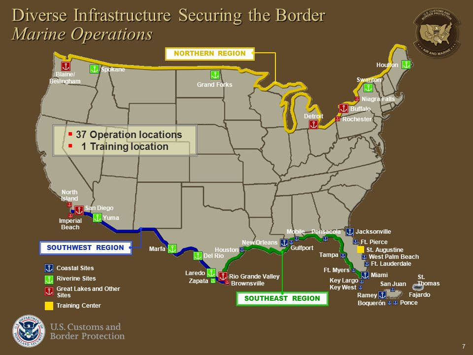 Diverse Infrastructure Securing the Border Marine Operations