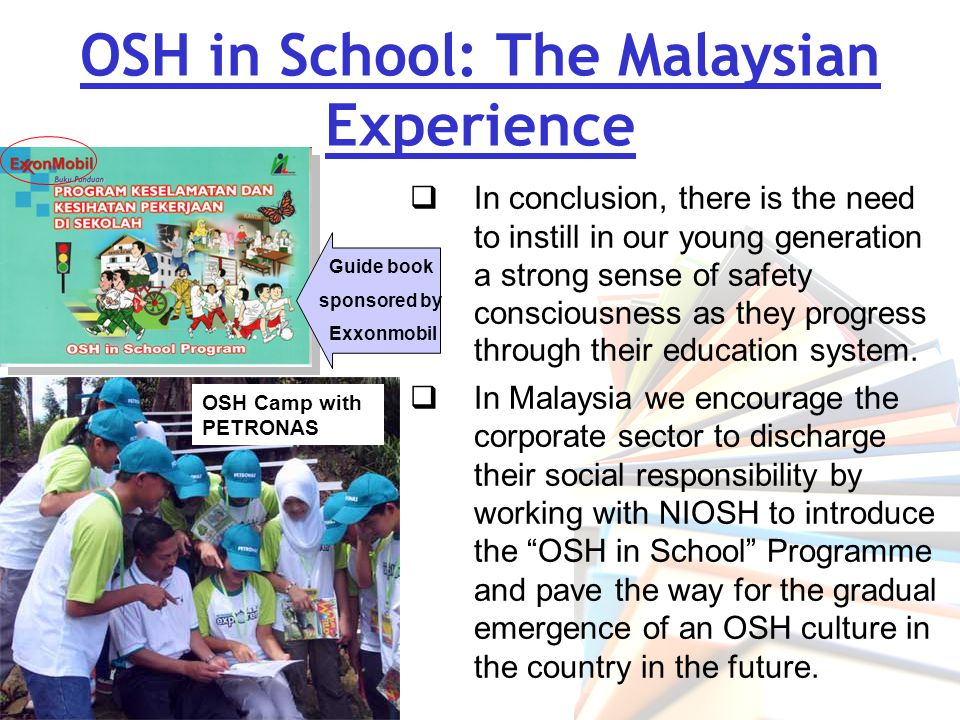 OSH in School: The Malaysian Experience