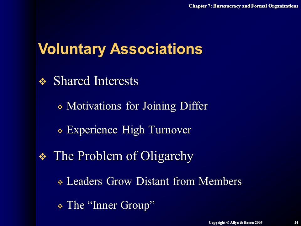 Voluntary Associations