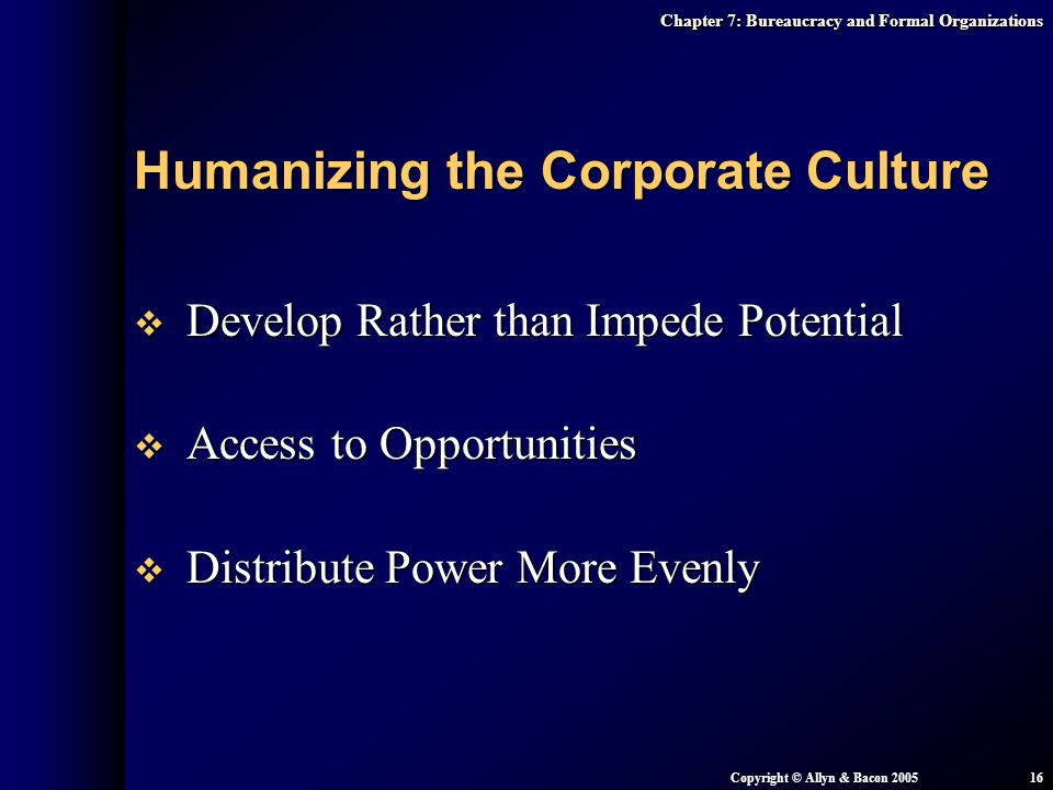 Humanizing the Corporate Culture