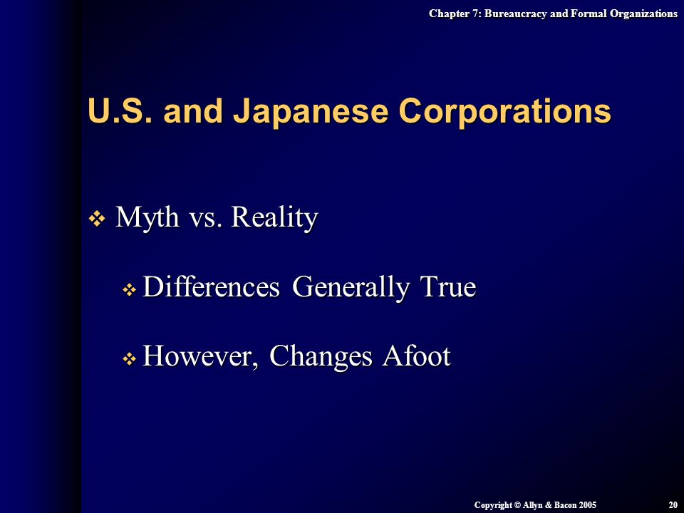 U.S. and Japanese Corporations