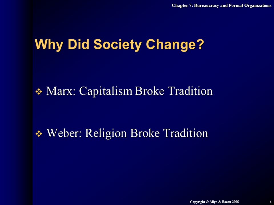 Why Did Society Change Marx: Capitalism Broke Tradition