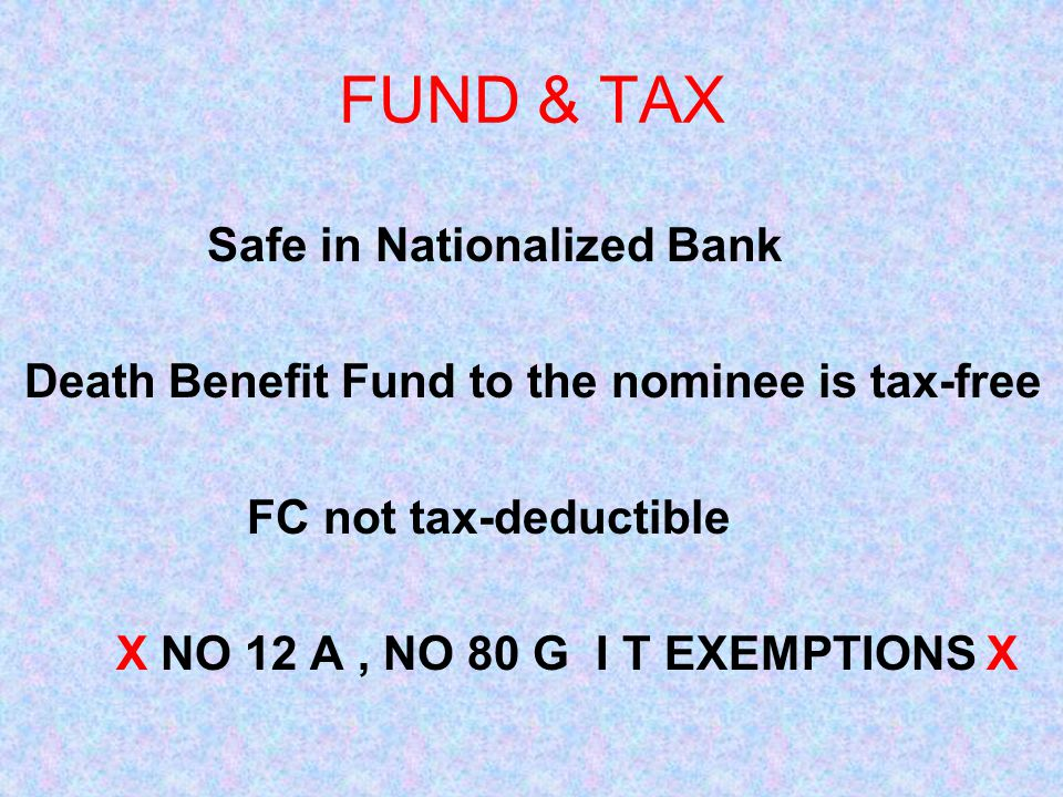 FUND & TAX Safe in Nationalized Bank