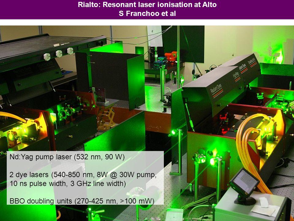 Rialto: Resonant laser ionisation at Alto S Franchoo et al