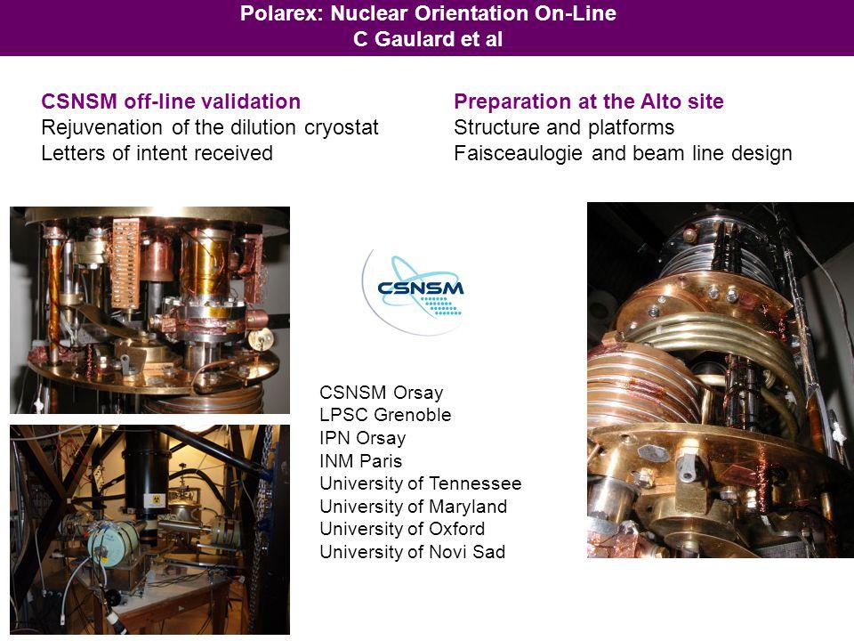 Polarex: Nuclear Orientation On-Line