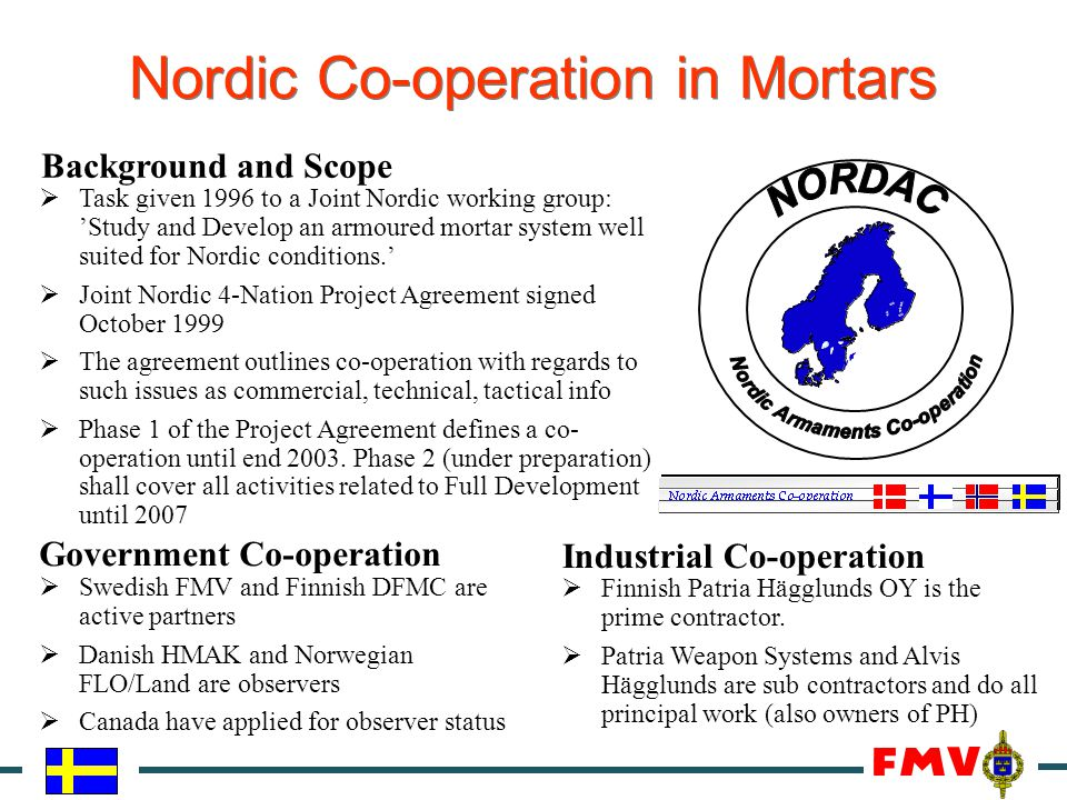 Nordic Co-operation in Mortars