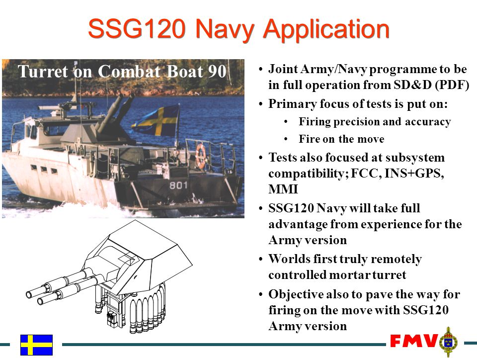SSG120 Navy Application Turret on Combat Boat 90